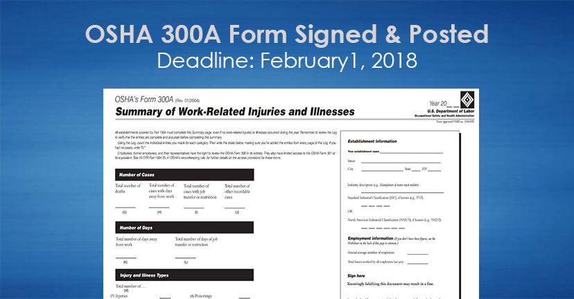 Osha A Form Posting Deadline  Hr Synergy Llc